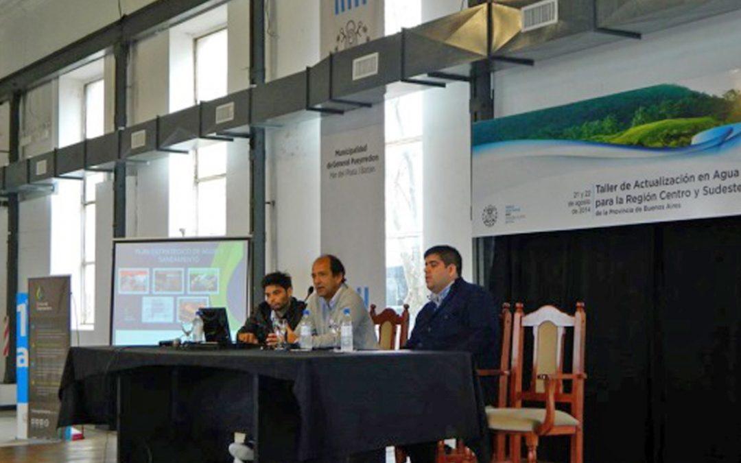 Participación en Taller de Actualización en Agua y Saneamiento para la Región Centro y Sudeste de la Provincia de Buenos Aires – Mar del Plata.