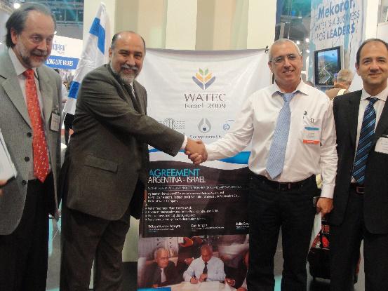 Participación en la feria WATEC en el Estado de Israel.